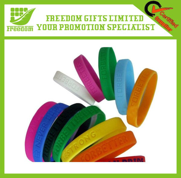 Cheapest Price Top Quality Logo Debossed Silicone Band