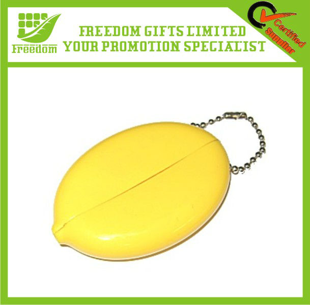Coin Holding Promotional Bean Bag Keychain