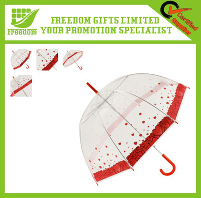 OEM Logo Advertising PVC Transparent Umbrella