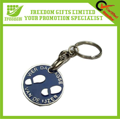 Advertising Customized Metal Trolley Key Ring