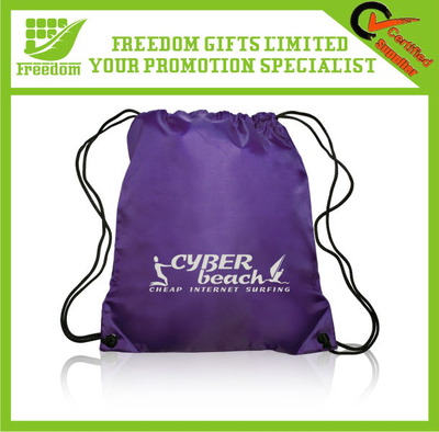Most Popular Logo Branded Nylon Drawstring Bag