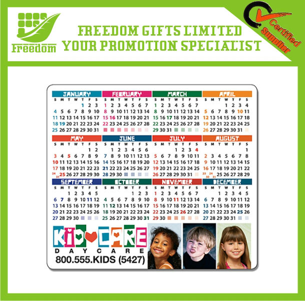 Custom Logo And Shaped Promotional Magnet Pad Calendar