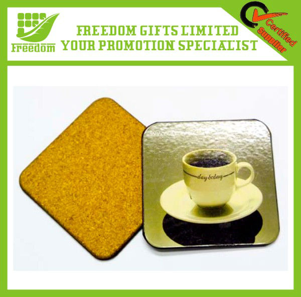 Customized Logo Printed Cork Coffee Coaster