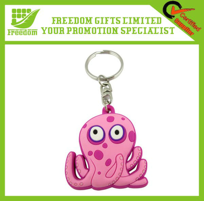 Promotional Advertising PVC Key Chain For Christmas Gifts