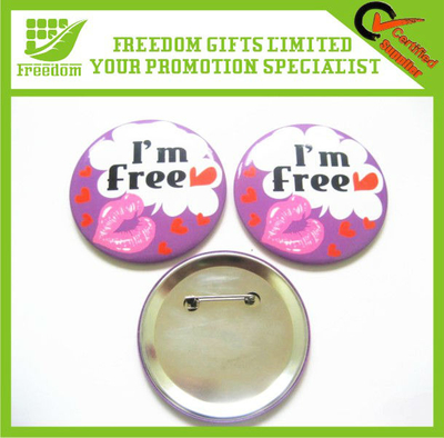 Promotional Branding Button Badge Tin Badge