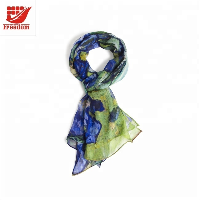 Most Popular Logo Printed Silk Scarf