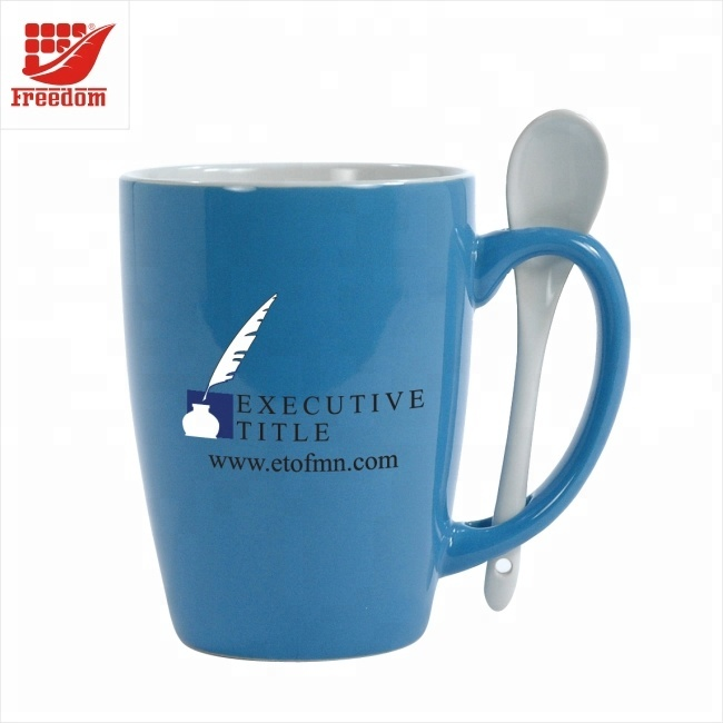 Advertising Beautiful Logo Printed Exquisite Ceramic Coffee Cup