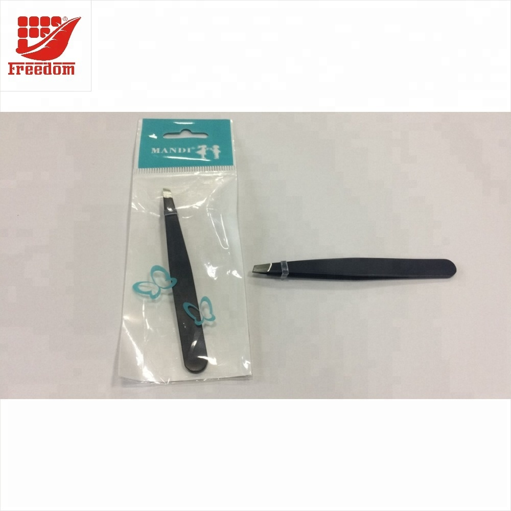 Logo Customized Stainless Steel Eyebrow Tweezers