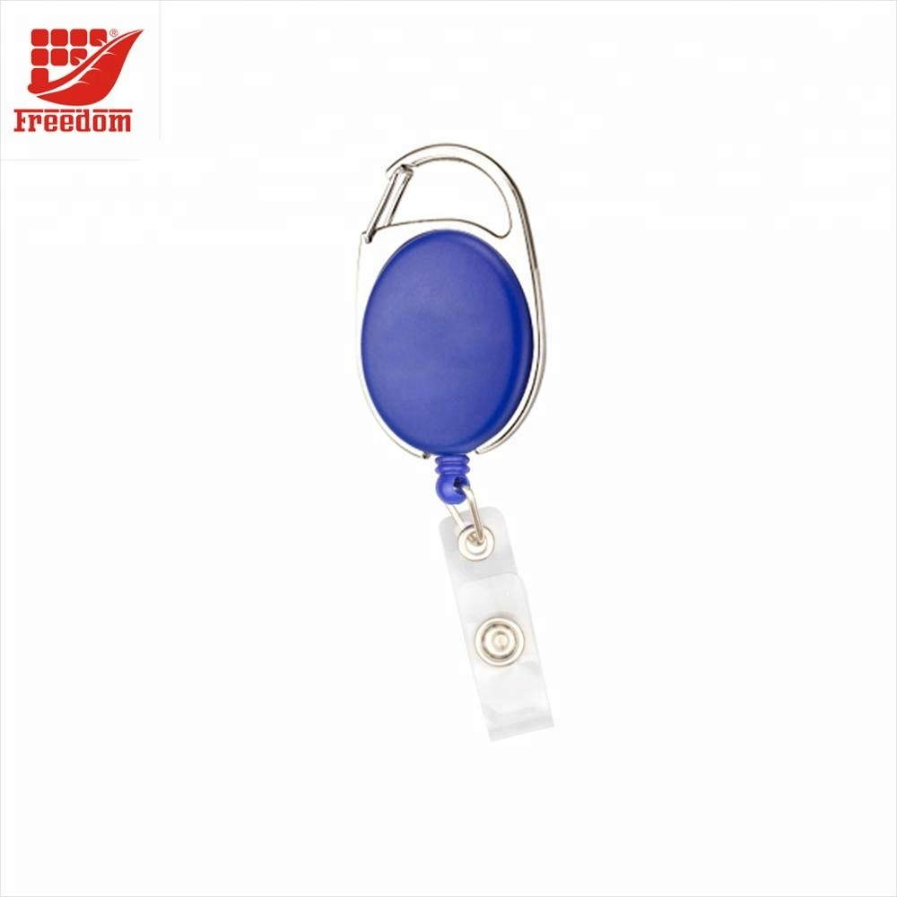 Logo Customized Round Plastic ID Card Badge Holder