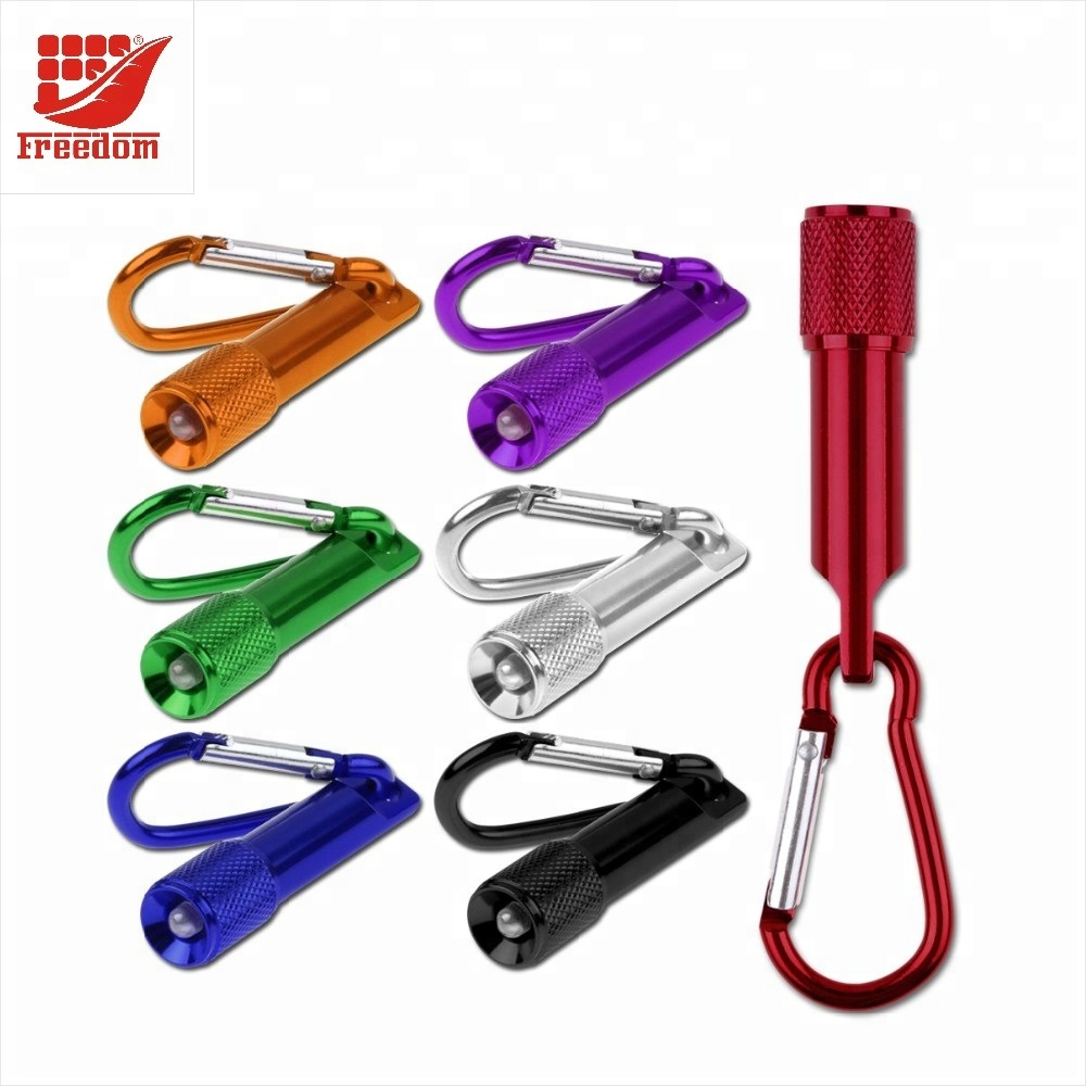 Mini LED Flashlights Torch Lights with Carabiner