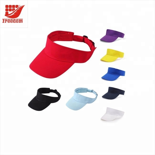 Logo Customized Cotton Material Empty Top Sun Visor Hat