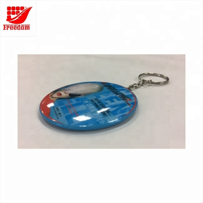 Logo Customized Metal Pocket Keychain Mirror