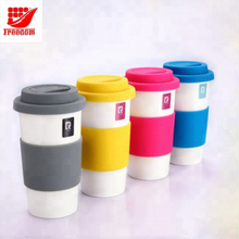 Promotional Silicone lid Ceramic Travel Mug
