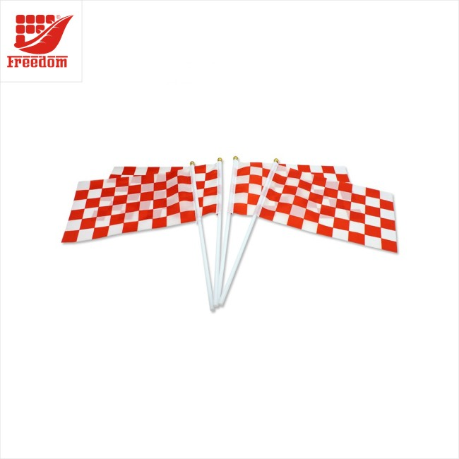 High Quality Waving Polyester Promotional Hand Flag