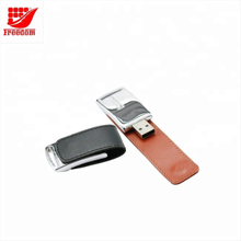 Logo Customized Portable Leather USB Flash Drive